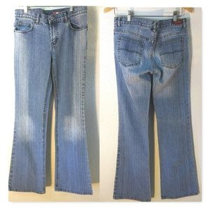 Buffalo Stonewashed Striped Flare Jeans Women's 28